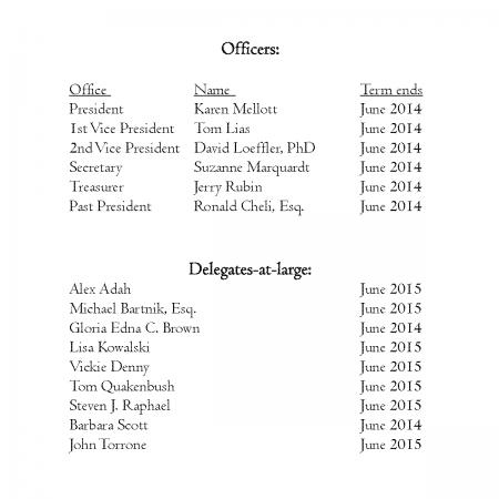 2013 Slate of Candidates